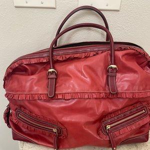Gucci Sabrina Red Large Boston Bag